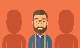 The best employee. Concept. Vector flat design Illustration Royalty Free Stock Photography