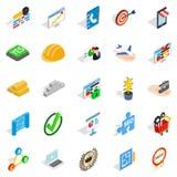 Best employee icons set, isometric style. Best employee icons set. Isometric set of 25 best employee vector icons for web isolated on white background Royalty Free Stock Photo