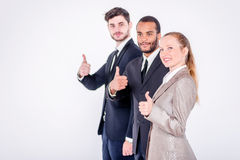 The best employees. Three confident and successful businessman s Royalty Free Stock Photos