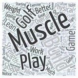 Best Exercise Tips for Golfers word cloud concept  background Stock Image