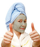 Best facial mask for a healthy skin Royalty Free Stock Photography