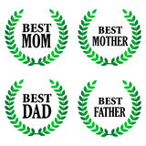 Best father and best mother Stock Photos