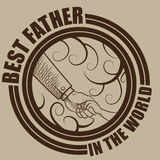 Best Father in the world Royalty Free Stock Photos
