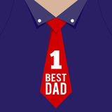Best Father In The World Shirt, Fathers Day Greetings Stock Image