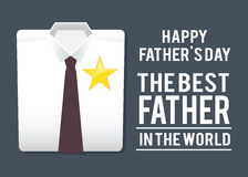 Best Father In The World Shirt, Fathers Day Greetings Royalty Free Stock Photos