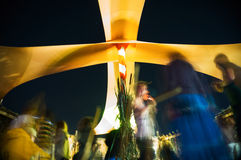 Best Fest festival groove tent. Blurred people in groove tent at Best Fest festival, Romania royalty free stock images