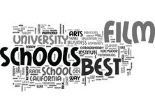 Best Film Schools Word Cloud Royalty Free Stock Images