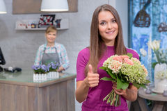 Best floral service ever royalty free stock image