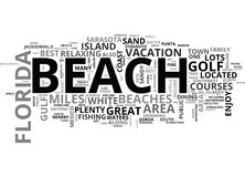 Best Florida Beaches Word Cloud. BEST FLORIDA BEACHES TEXT WORD CLOUD CONCEPT stock illustration