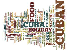 The Best Food Cuba Has To Offer Text Background  Word Cloud Concept Royalty Free Stock Images