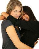 Best Friend Hugging royalty free stock image