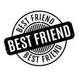 Best Friend rubber stamp Royalty Free Stock Photos