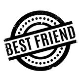 Best Friend rubber stamp Royalty Free Stock Photo