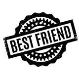 Best Friend rubber stamp Stock Image