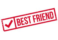 Best Friend rubber stamp Stock Images