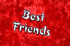 Best friend word Royalty Free Stock Photos