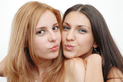 Best friends royalty free stock photos