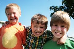 Best friends. Three friends having fun together Stock Photo