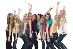 Best friends. Ten beautiful young women having fun together Stock Photography