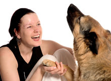 Best friends. Woman and her dog Stock Photo