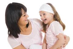 Best friends. Mother and daughter having a good time, being best friends Royalty Free Stock Photo