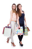 Best friends afte shopping Stock Photography