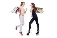 Best friends afte shopping Stock Photos