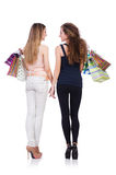 Best friends afte shopping Stock Image