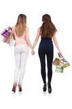 Best friends afte shopping Royalty Free Stock Images