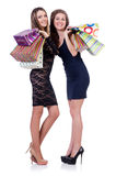 Best friends afte shopping Royalty Free Stock Photo
