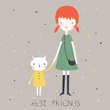 Best friends background or card. Stock Images