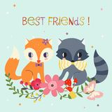 Best Friends Background Royalty Free Stock Photography