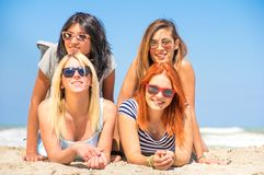 Best friends on the beach Stock Photography