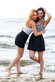 Best friends on the beach Stock Images