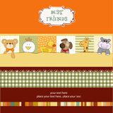 Best friends card. In vector format Stock Photography
