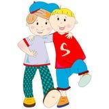 Best friends cartoon Stock Image