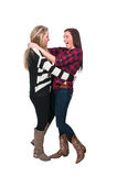 Best Friends. Couple of beautiful young women who are the best of friends Stock Images