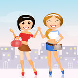 Best friends. Cute illustration of best friends Royalty Free Stock Images
