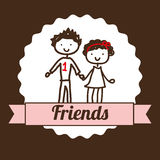 Best friends design Royalty Free Stock Image