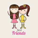 Best friends design Royalty Free Stock Photo