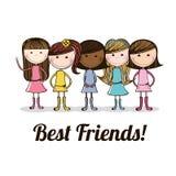 Best friends design Royalty Free Stock Photos