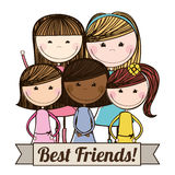 Best friends design Royalty Free Stock Photography