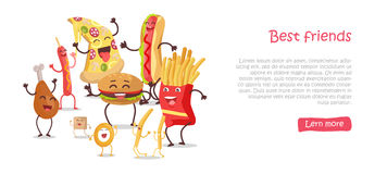 Best Friends, Food Banner Royalty Free Stock Photography