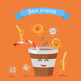 Best Friends, Food Banner Royalty Free Stock Photos