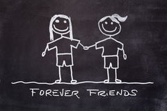 Best Friends Forever Royalty Free Stock Photos