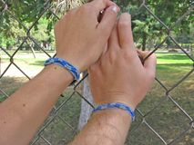 Best Friends Forever. Friendship Bracelets Unite Best Friends Royalty Free Stock Photography