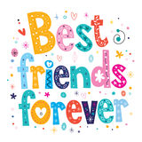 Best friends forever. Decorative type lettering design Stock Images