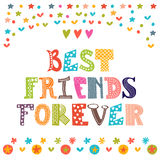 Best friends forever. Inspirational motivational quote.  Stock Photo