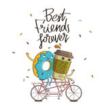 Best friends forever. The trend calligraphy Royalty Free Illustration