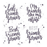 Best friends forever. Trend calligraphy Stock Photos